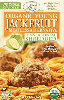 Edward & Sons Organic Young Jackfruit Meatless Alternative Unseasoned Shredded, 7..