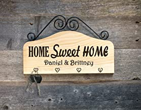 Home Sweet Home Personalized Engraved Key Hook Key Holder