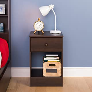 Prepac Astrid Tall 1 Drawer Nighstand, Espresso