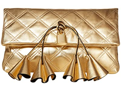Marc Jacobs Sofia Loves The Metallic Leather Clutch (Gold) Handbags