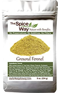 The Spice Way Fennel Seed Ground - bulk seeds powder great for tea and cooking 8 oz