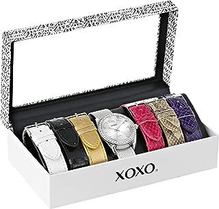 XOXO XO9062 Reloj plateado con bandas intercambiables para mujer