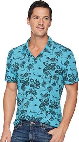 North Shore Short Sleeve Johnny Collar Polo