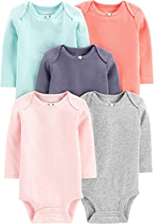 Girls' 5-Pack Long-Sleeve Bodysuit