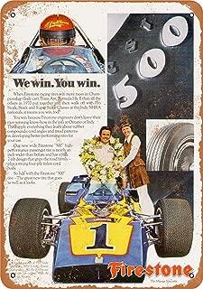 7 x 10 Metal Sign - 1971 Al Unser for Firestone Tires - Vintage Look