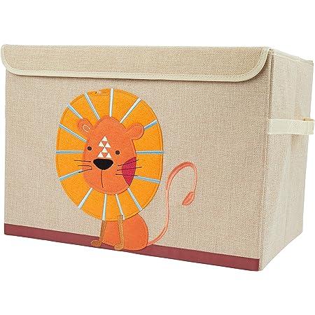 Kisten mit Deckel Bieco Aufbewahrungsbox mit Deckel Aufbewahrungsbox Kinder ca Aufbewahrungsbox Gro/ß 36x36x51cm Wal Motiv 65L faltbar Wickeltisch Organizer Spielzeugkiste mit Deckel