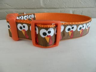 Schmoopsie Couture Thanksgiving Turkey Gobble Face Dog Collar