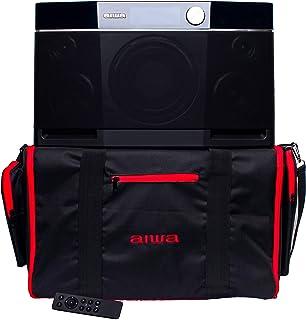 Aiwa Essentials Bundle - Exos-9 Portable Bluetooth Speaker, Custom Carrying Case and IR Remote Control