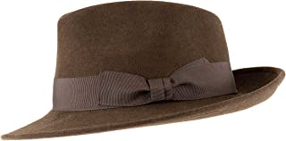 Alpenleder Fedora Hat Palermo | Handmade in Italy | 100% Wool Felt Crushable Men Women