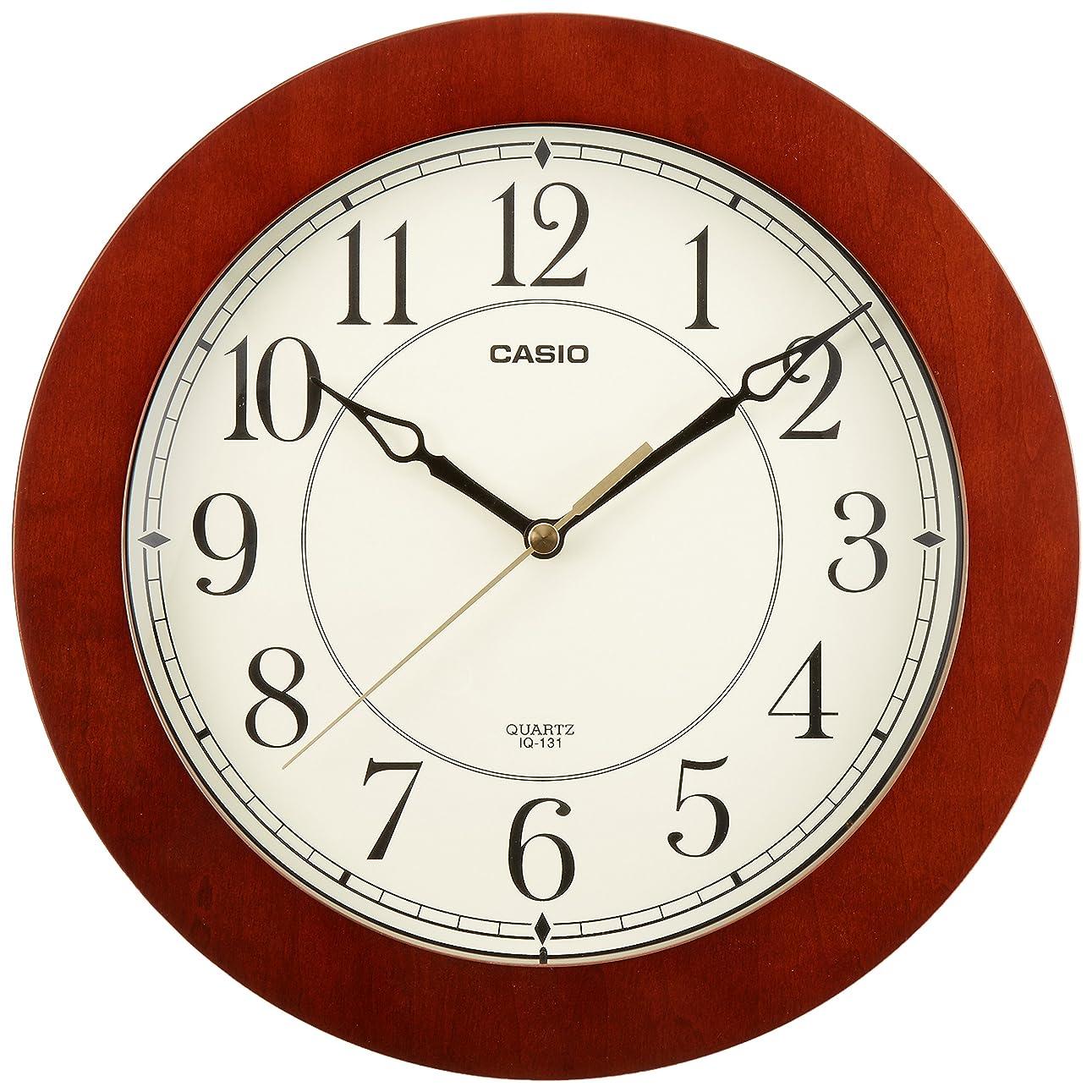 レタスメンタル勇敢なCASIO(カシオ) 掛け時計 アナログ 木枠 ダークブラウン IQ-131S-5JF