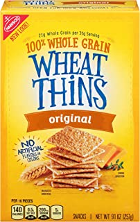 Wheat Thins Baked Snack Crackers, Original, 9.1 oz