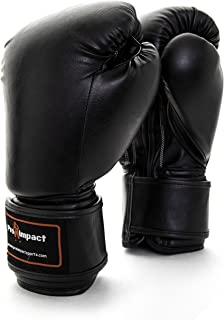 Pro Impact Boxing Gloves - Durable Knuckle Protection w/Wrist Support for Boxing MMA Muay Thai or Fighting Sports Training/Sparring Use