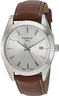 Mens Gentleman Swiss Quartz Stainless Steel Dress Watch (Model: T1274101603100)