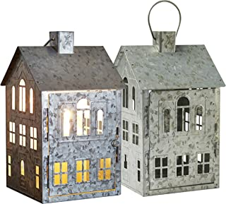 Better Homes & Gardens Galvanized House Candle Holder (Pack of 2)