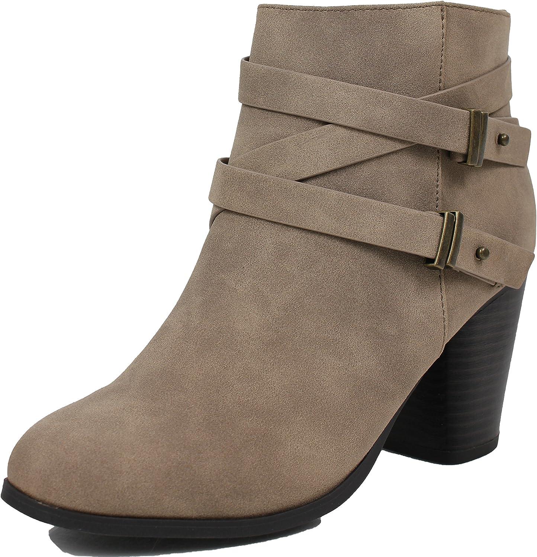 Soda Women's Undine Pointy Toe Ankle Bootie shoes