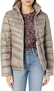 Kenneth Cole New York Women's Ruched Quilted Hooded Packable