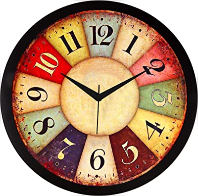 RAG28 11.75 Inches Designer Wall Clock for Home/Living Room/Bedroom/Kitchen (9232)