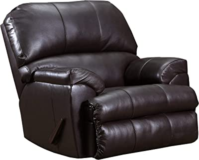 Benjara, Black Faux Leather Upholstered Recliner Chair with Tufted Details