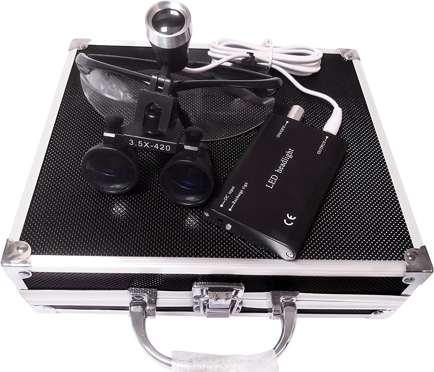 Doc.Royal 3.5X 420mm shipfree Working Distance Surgical Max 54% OFF Optical Bin Glass