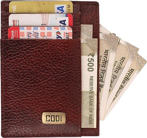 Printelligent Leather Unisex ATM Credit Card Holder