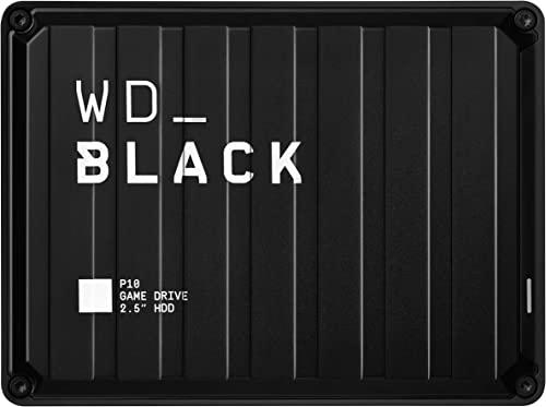 WD_Black 5TB P10-Game Drive, Portable External Hard Drive Compatible with -Playstation, Xbox, PC, & Mac - WDBA3A0050B...