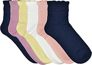 Fontana Calze, 12 paia di calze bambina in 100% Cotone Filo di Scozia elasticizzato.