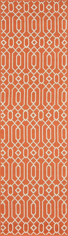 Momeni Rugs BAJA0BAJ-3ORG2376, Baja Collection Contemporary Indoor & Outdoor Area Rug, Easy to Clean, UV predected & Fade Resistant, 2'3  x 7'6  Runner, orange
