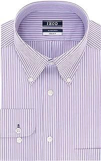 IZOD Men's Dress Shirts Regular Fit Stretch Stripe