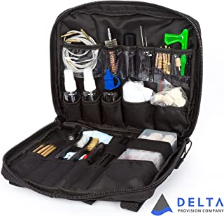 Delta Provision Gun Cleaning Kit - Rifle - Pistol - Shotgun - Universal Firearm Cleaning & Maintenance Kit With Optics Cleaning - Heavy Duty Tactical Case