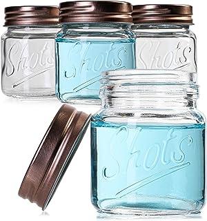 Juvale Bulk 2 Ounce Mini Mason Jars Shot Glasses with Lids (12 Pack)