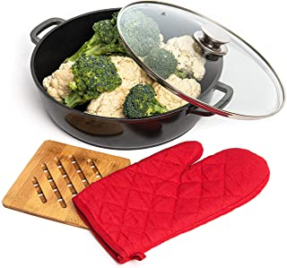 Moss & Stone Die Casting Aluminum Non-Stick Cookware Set,11 Inch Casserole Stockpot with Lid with Non Toxic Stone-Derived ...