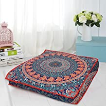 Ganesham - Indian tapestry Dog or Cat bed, handmade throw pillow cover, boho floor pillow, bohemian pouf ottoman, seating pouf, boho pet or kids bed mandala indian cushion cover (Christmas gift)