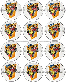 Mickey Mouse and the Roadster Racers Licensed Edible Cupcake / Cookie Toppers ~ 12 Per Sheet 20918