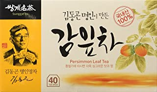 Persimmon Leaf Tea 1.0g X 40 Tea Bags, VitaminC weight loss Korean Herb Leaves