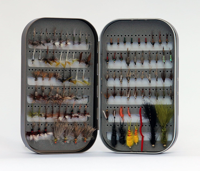 Outstanding Barnsley Fly Box + 100 Assorted Product Kit Fishing