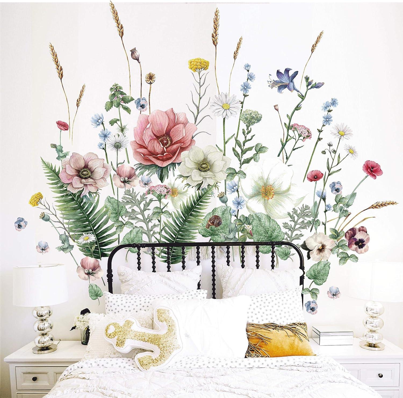 最安値 KOTYAMOTYA Wildflowers Wall Decals Watercolor セールSALE%OFF Art - Flowers