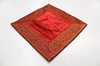 Agas Own India Funda de Almohada de 80x 80cm Funda de cojín Almohada Funda India Oriental, Rojo, 80 x 80 cm