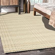 "Rugsville Elyse Plaid Ivory Modern Carpet 5'4"" x 7'7"""