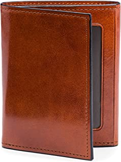 Bosca Mens Old Leather Collection Double ID Trifold Wallet (One Size