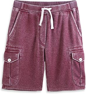 Men's Classic-Fit 5-Pockets Cargo Short Cotton Elastic Fleece Gym Shorts