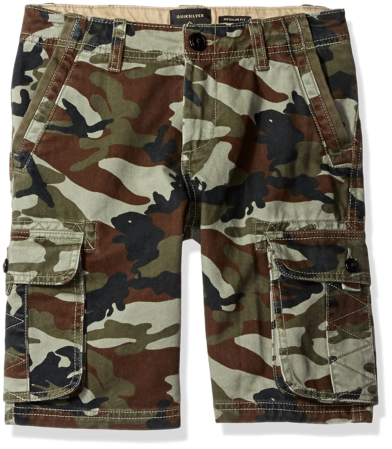 Quiksilver Boy's 8- Everyday Deluxe Cargo Shorts Size 26-12