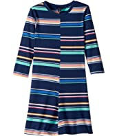 Tommy Hilfiger Kids Yarn-Dye Multi-Stripe Split Dress (Big Kids)
