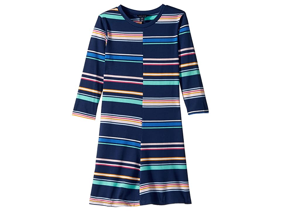 Tommy Hilfiger Kids Yarn-Dye Multi-Stripe Split Dress (Big Kids) (Medium Navy) Girl
