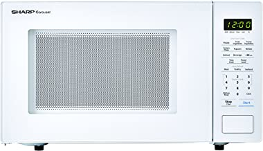 SHARP ZSMC1131CW White Carousel 1.1 Cu. Ft. 1000W Countertop Microwave Oven (ISTA 6 Packaging), Cubic Foot, 1000 Watts