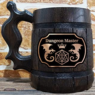 Dungeon Master Beer Mug, Dungeons & Dragons Beer Stein, DM Gift, DnD Beer Tankard, Gift for Him, Geek Gift
