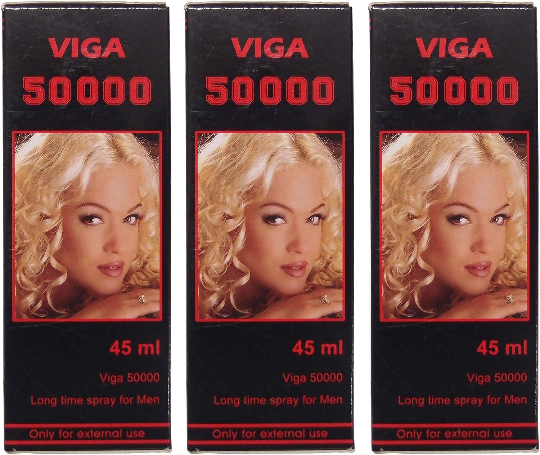 3 X Viga 50000 Luxury Delay Spray for Vitamin Fashion - Expedited E Men with