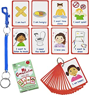 Special Needs My Communication Cards for Special Ed, Speech Delay Non Verbal Children and Adults with Autism 27 Flash Card...