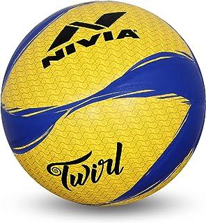 Nivia Twirl Volleyball, Size 4 (Yellow/Blue), 0