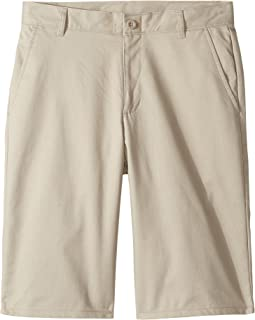 Regular Flat Front Twill Shorts (Big Kids)