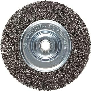 Weiler Vortec Pro Medium Face Wire Wheel Brush, Round Hole, Carbon Steel, Crimped Wire, 6